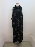 Y's YOHJI YAMAMOTO (ワイズ ヨウジヤマモト) クラゲ柄ジャガードハイネックノースリーブドレス:ブラック×ホワイト
