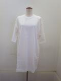 wmg.ダブルエムジードット.コスメリペレント付き度詰天竺半袖ロングTシャツ:ホワイト