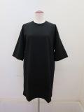 wmg.ダブルエムジードット.コスメリペレント付き度詰天竺半袖ロングTシャツ:ブラック