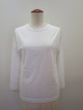 KEI Hayama PLUS(ケイハヤマプリュス) 100/2ピン天竺バイオ七分袖Tシャツ:ホワイト