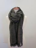 Y's YOHJI YAMAMOTO (ワイズ ヨウジヤマモト) 綿麻平織りウインドペンストール:グレー