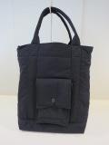 Y's YOHJI YAMAMOTO (ワイズ ヨウジヤマモト) 中綿入りトートバッグ:ブラック