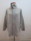 KEI Hayama PLUS(ケイハヤマプリュス) 7Gラムウールカシミヤブレンドフロントホックニットジャケット:杢グレー