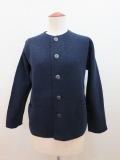 KEI Hayama PLUS(ケイハヤマプリュス) 強縮絨ニット8.5G長袖ジャケット:ネイビー