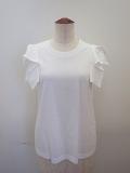 g.ジードット  ノースリーブTシャツ:ホワイト