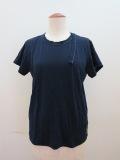 Y's YOHJI YAMAMOTO (ワイズ ヨウジヤマモト) 天竺シワ加工PIGクレイジーTシャツ:ネイビー