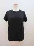Y's YOHJI YAMAMOTO (ワイズ ヨウジヤマモト) 天竺シワ加工PIGクレイジーTシャツ:ブラック