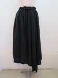 Y's YOHJI YAMAMOTO (ワイズ ヨウジヤマモト) 左スリットギャザースカート :ブラック