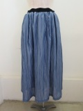KEI Hayama PLUS(ケイハヤマプリュス) チンツウワッシャー加工ウエストゴム ギャザースカート :ブルー