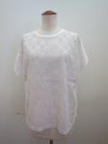 KEI Hayama PLUS(ケイハヤマプリュス) サークルレース微強撚天竺半袖Tシャツ:ホワイト