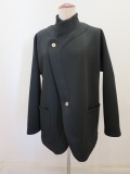 KEI Hayama PLUS(ケイハヤマプリュス) ダンボールニットジャケット:ブラック