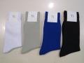 Y's YOHJI YAMAMOTO (ワイズ ヨウジヤマモト) 天竺定番ソックス:左からホワイト/ライトグレー/ブルー/ブラック