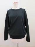 g. ジードット  ラウンドシルエット長袖Tシャツ:ブラック