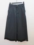 KEI Hayama PLUS(ケイハヤマプリュス) クールマックスオックス八分丈太パンツ:ブラック