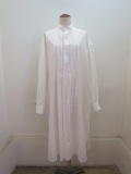 Y's YOHJI YAMAMOTO (ワイズ ヨウジヤマモト) 100/2綿ブロードピンタックシャツワンピース:ホワイト