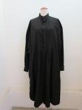 Y's YOHJI YAMAMOTO (ワイズ ヨウジヤマモト) 100/2綿ブロードピンタックシャツワンピース:ブラック