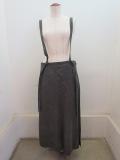 Y's YOHJI YAMAMOTO (ワイズ ヨウジヤマモト) トップルーズツイル製品ムラ染めジャンバースカート :グレー
