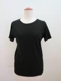 Y's YOHJI YAMAMOTO (ワイズ ヨウジヤマモト) 強撚天竺半袖Tシャツ:ブラック