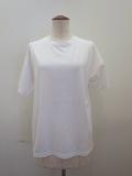KEI Hayama PLUS(ケイハヤマプリュス) スーピマ天竺バイオ肩ステッチ入り半袖Tシャツ:ホワイト