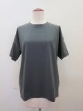 KEI Hayama PLUS(ケイハヤマプリュス) スーピマ天竺バイオ肩ステッチ入り半袖Tシャツ:グレー