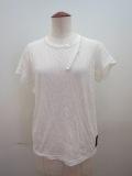 Y's YOHJI YAMAMOTO (ワイズ ヨウジヤマモト) 天竺シワ加工PIGクレイジーTシャツ:ホワイト