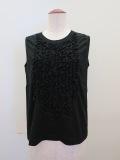 H.A.K (ハク) トルファンゴールド天竺ノースリーブTシャツ:ブラック
