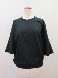 g. ジードット コットン100%ラウンド半袖Tシャツ:ブラック