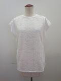 H.A.K (ハク) ラッセルレース×天竺フレンチスリーブTシャツ:ホワイト