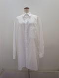 Y's YOHJI YAMAMOTO (ワイズ ヨウジヤマモト) 100/2綿ブロードタックポケット付きブラウス:ホワイト
