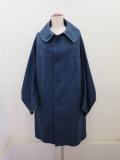 Y's YOHJI YAMAMOTO (ワイズ ヨウジヤマモト) コットンツイル変形袖コート:ブルー