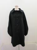 Y's YOHJI YAMAMOTO (ワイズ ヨウジヤマモト) コットンツイル変形袖コート:ブラック