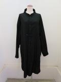 Y's YOHJI YAMAMOTO (ワイズ ヨウジヤマモト) コットン薄ツイル羽織シャツドレス:ブラック