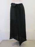 Y's YOHJI YAMAMOTO (ワイズ ヨウジヤマモト) シワギャバウエスト紐コンビスカート:ブラック