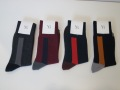 Y's YOHJI YAMAMOTO (ワイズ ヨウジヤマモト) 配色ソックス:左から1、グレー/2、ボルドー/3、ダークグリーン/4、ブラック