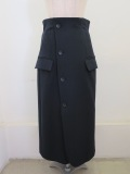 sakayori サカヨリ  二重織りセミタイトスカート:ネイビー