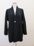 KEI Hayama PLUS(ケイハヤマプリュス) ウールライト縮絨ニットジャケット:ブラック