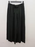 KEI Hayama PLUS(ケイハヤマプリュス) 後染めドビーダイヤ柄台襟ウエストゴム太パンツ:ブラック