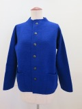 KEI Hayama PLUS(ケイハヤマプリュス) 強縮絨ニットジャケット:ブルー