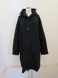 Y's YOHJI YAMAMOTO (ワイズ ヨウジヤマモト) コットンリヨセル裏毛起毛フードコート:ブラック