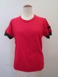 Y's YOHJI YAMAMOTO (ワイズ ヨウジヤマモト)  ムラ糸天竺丸首半袖Tシャツ:ピンク