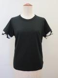 Y's YOHJI YAMAMOTO (ワイズ ヨウジヤマモト)  ムラ糸天竺丸首半袖Tシャツ:ブラック