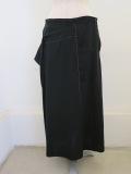 Y's YOHJI YAMAMOTO (ワイズ ヨウジヤマモト) ポプリン右二重スカート:ブラック