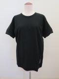 Y's YOHJI YAMAMOTO (ワイズ ヨウジヤマモト) 強撚天竺袖口ネジレTシャツ:ブラック
