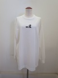 wmg.ダブルエムジードット.wmg.立体ロゴプリント長袖ロングTシャツ:ホワイト