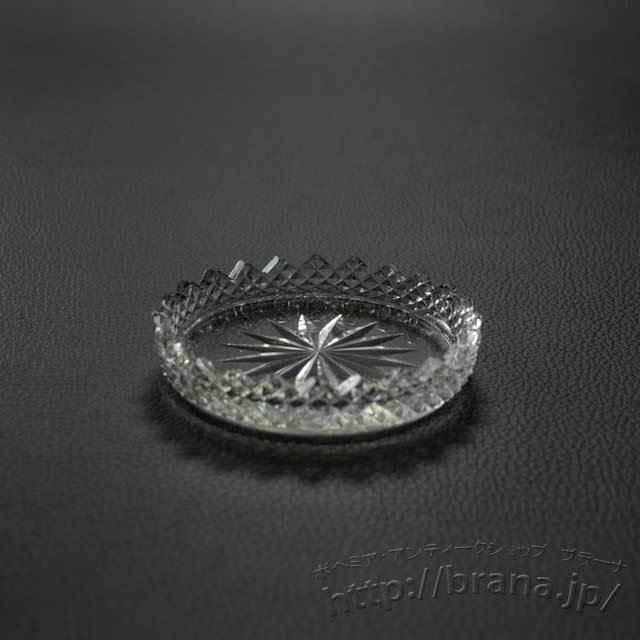 チェコヴィンテージガラス皿