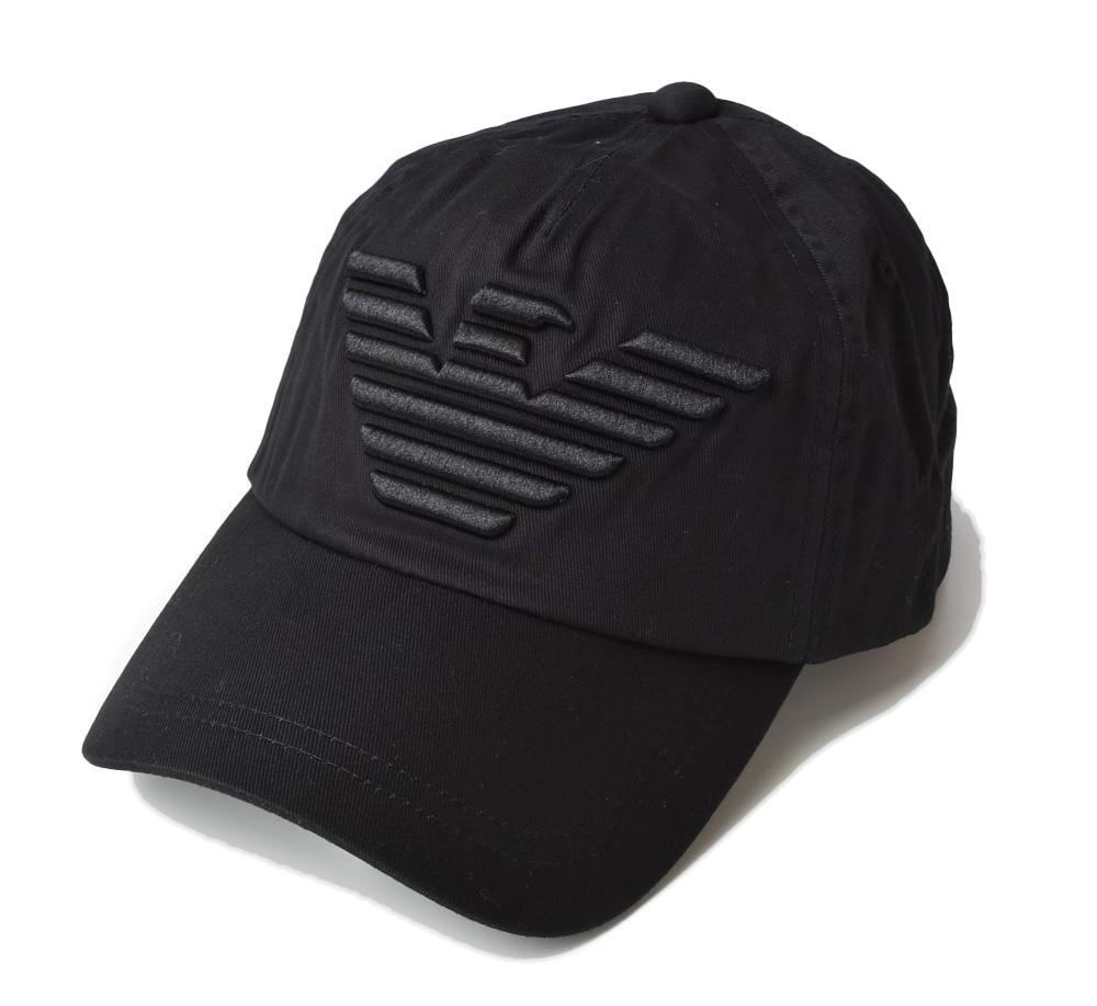 エンポリオアルマーニ キャップ/帽子 EMPORIO ARMANI メンズ ベースボールキャップ イーグル/ブラック 627522 CC995 00020