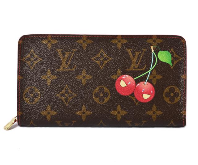 ルイヴィトン 財布 LOUIS VUITTON 長財布/ラウンドファスナー式財布 M95006 モノグラムチェリー