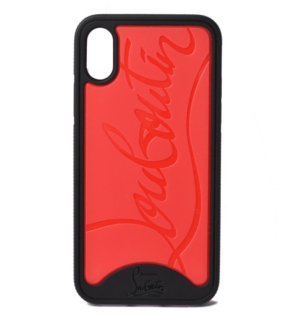 クリスチャンルブタン iPhoneXケース/iPhoneXsケース Christian louboutin ブラック/レッド 1195360 IPHONE アイフォン X/Xs