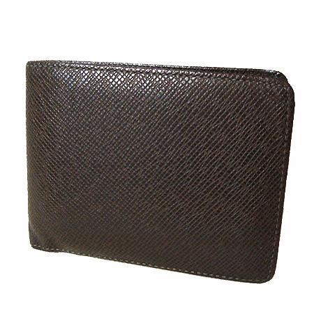 ルイヴィトン タイガ 折財布 ミュルティプル グリズリ M30958 中古A