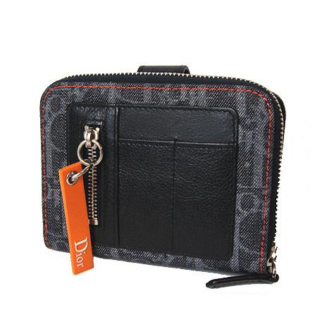クリスチャンディオール ファスナー式折財布 フライトライン ブルー BLD43030 新品
